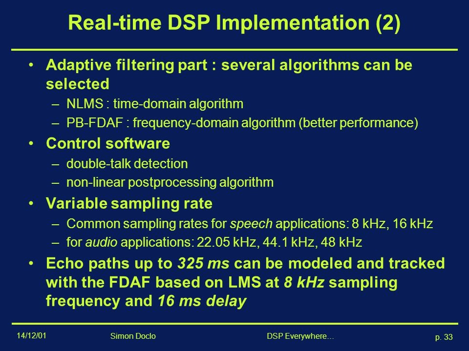 Real-time DSP Implementation (2)