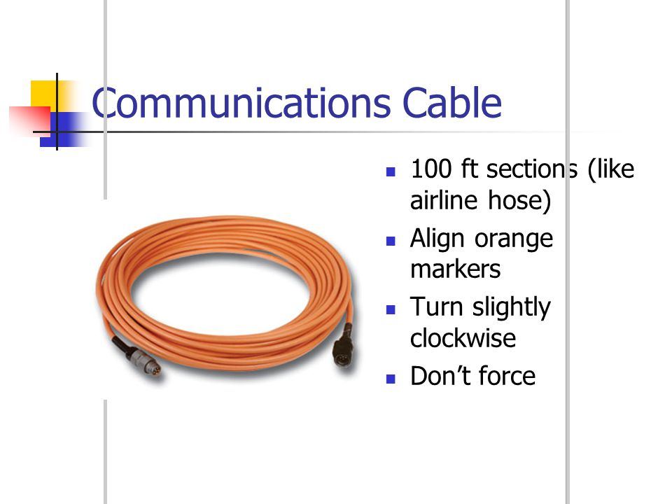 Communications Cable 100 ft sections (like airline hose)