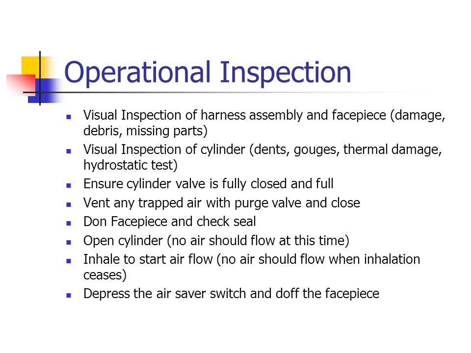 Operational Inspection