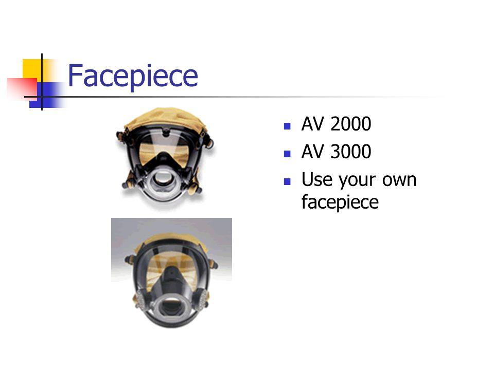Facepiece AV 2000 AV 3000 Use your own facepiece