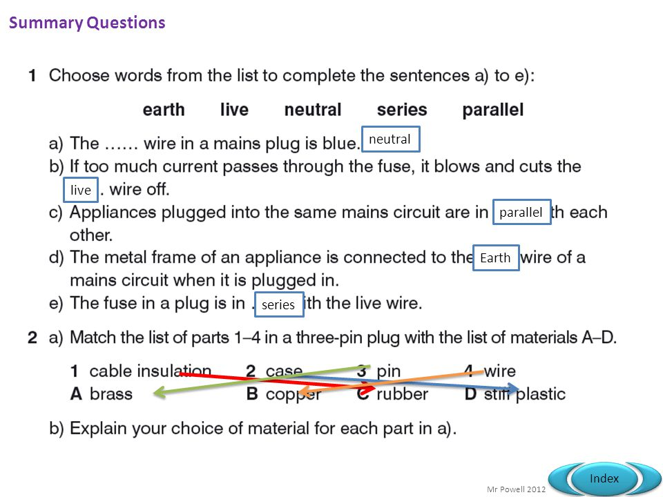 Summary Questions neutral live parallel Earth series