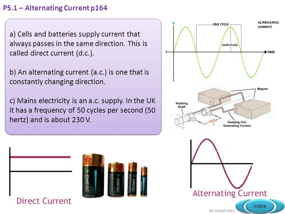 P5.1 – Alternating Current p164