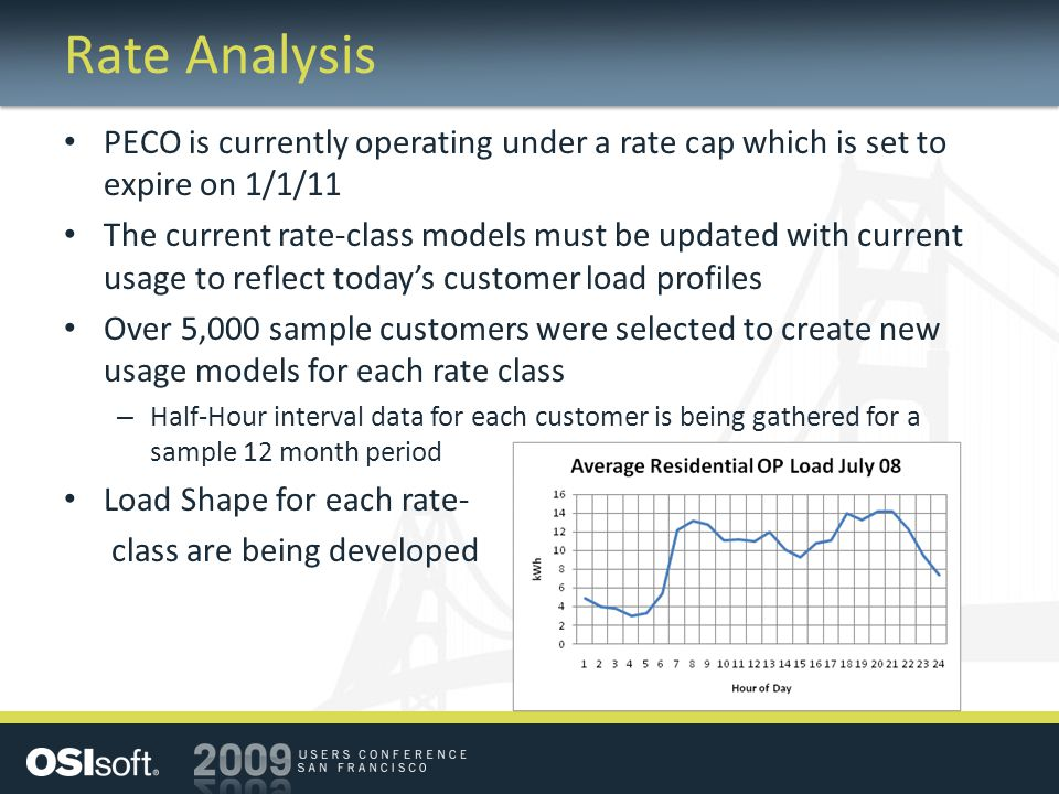 Rate Analysis PECO is currently operating under a rate cap which is set to expire on 1/1/11.