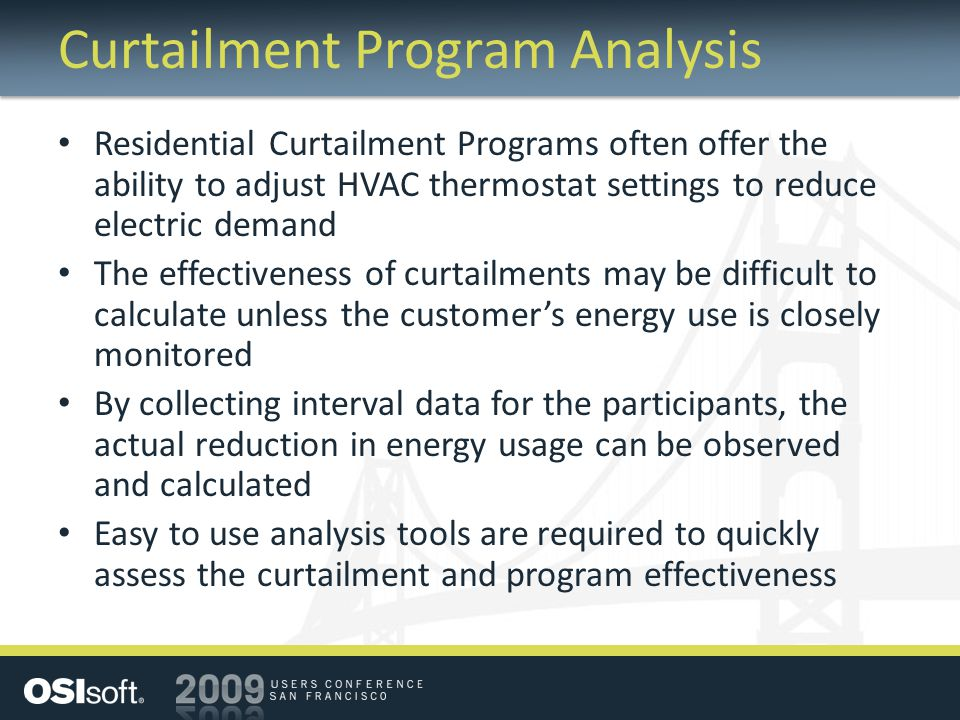 Curtailment Program Analysis