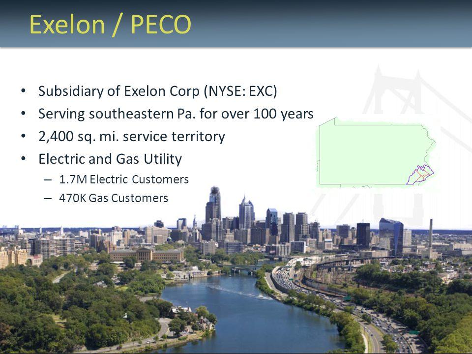 Exelon / PECO Subsidiary of Exelon Corp (NYSE: EXC)