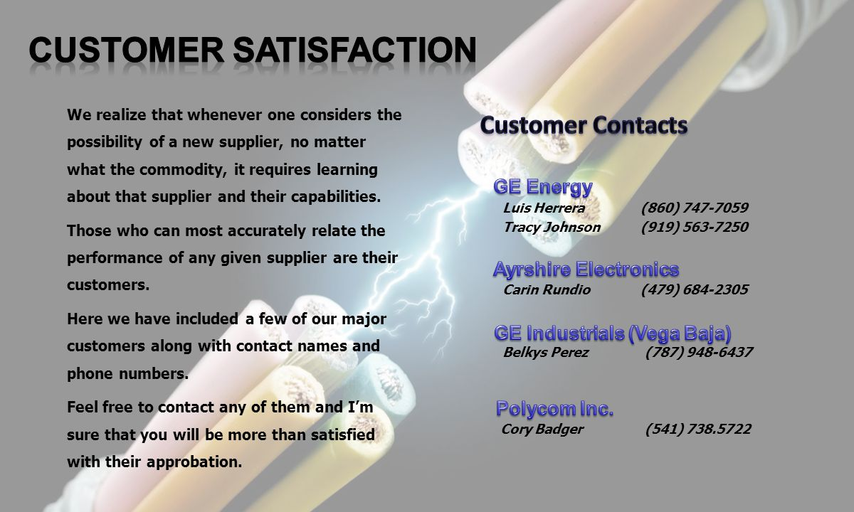 CUSTOMER SATISFACTION GE Industrials (Vega Baja)
