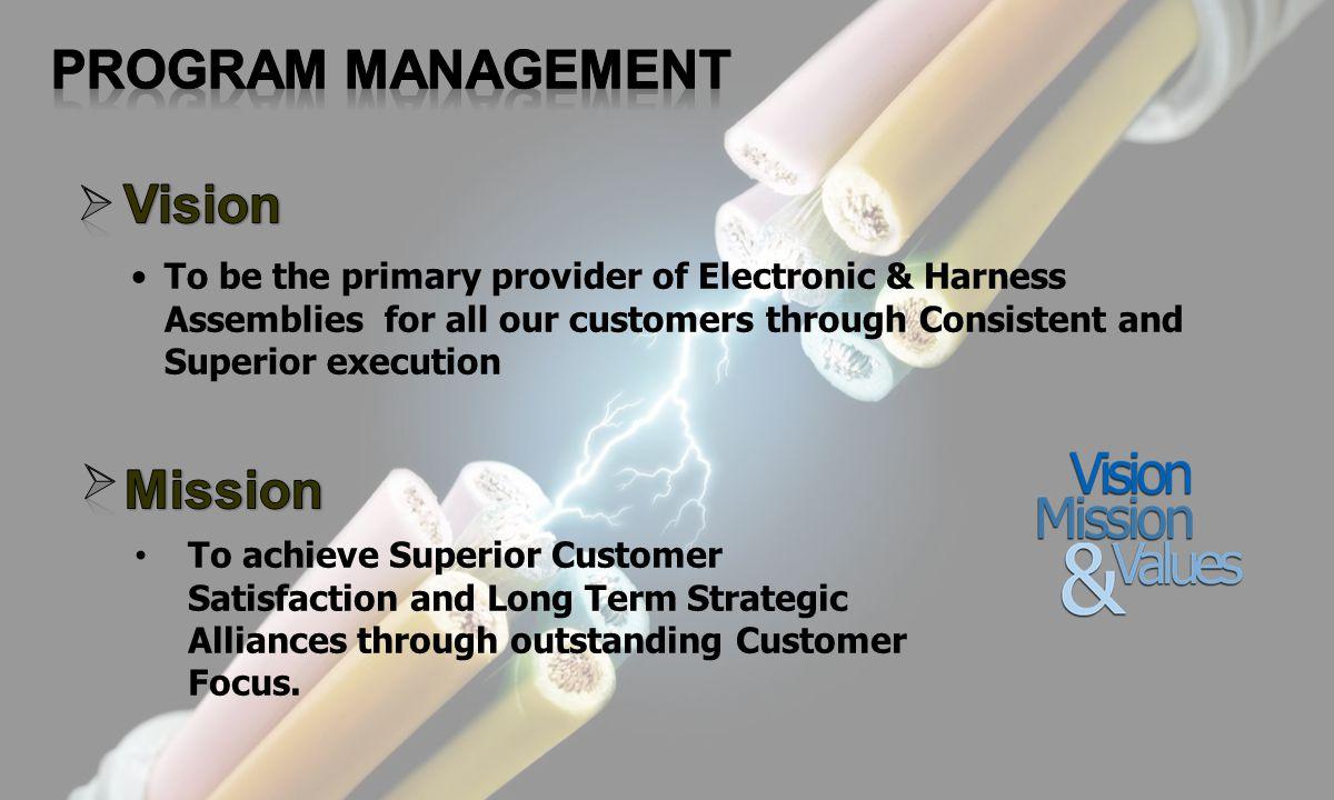PROGRAM MANAGEMENT Vision Mission