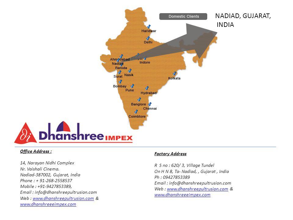 NADIAD, GUJARAT, INDIA NADIAD, GUJARAT, INDIA Office Address :