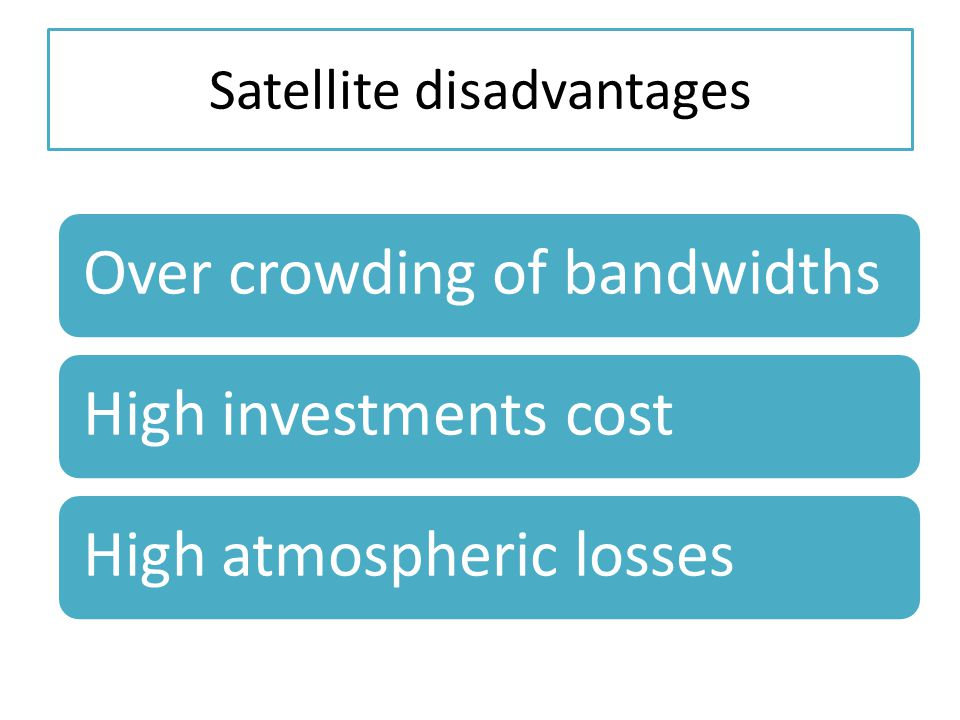 Satellite disadvantages