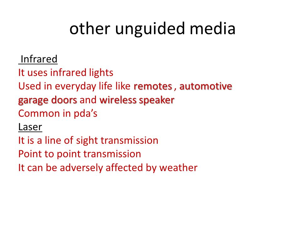 other unguided media