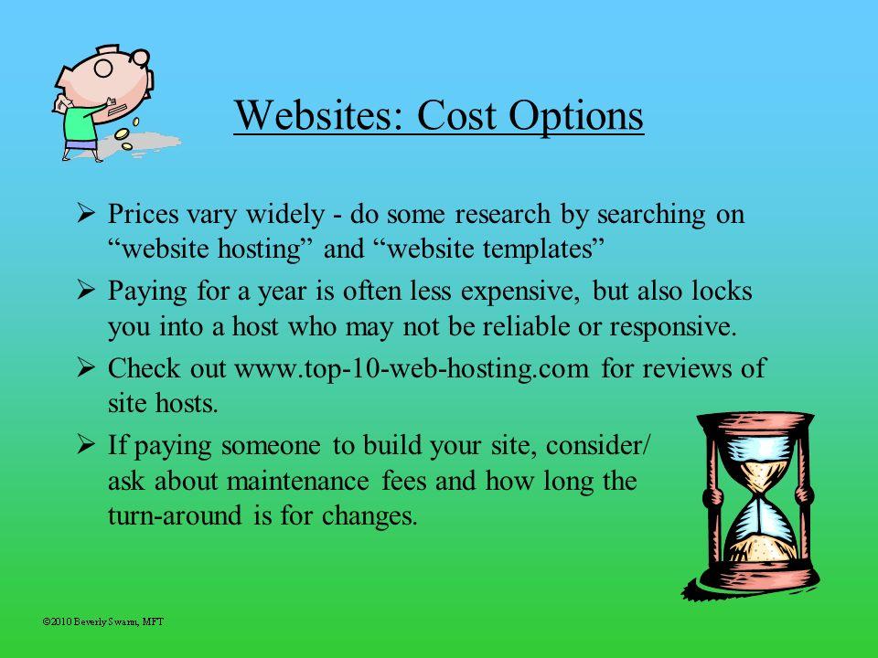 Websites: Cost Options