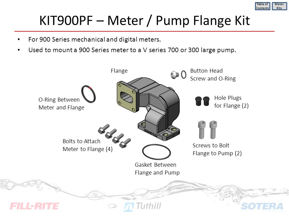 KIT900PF – Meter / Pump Flange Kit