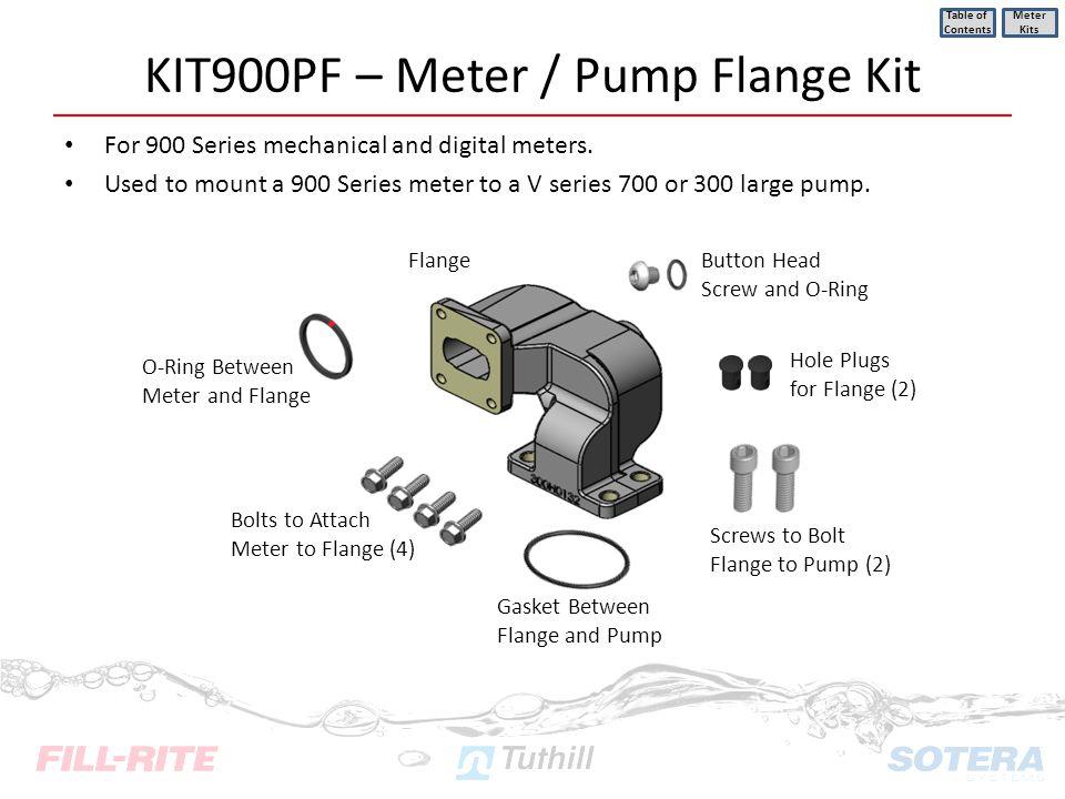 KIT900PF – Meter / Pump Flange Kit