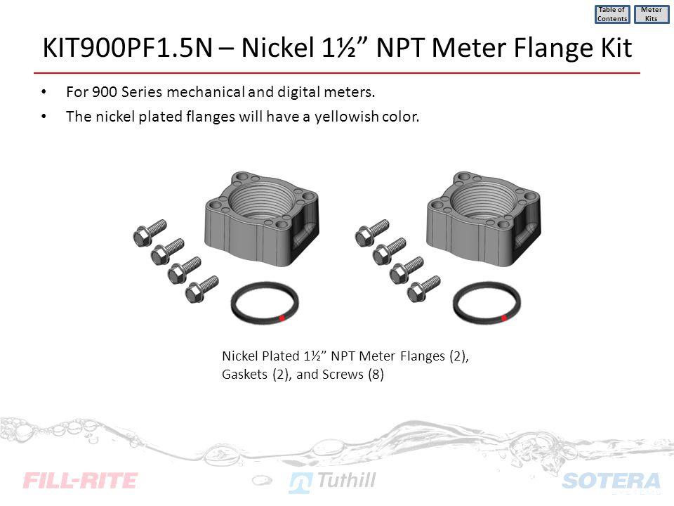 KIT900PF1.5N – Nickel 1½ NPT Meter Flange Kit