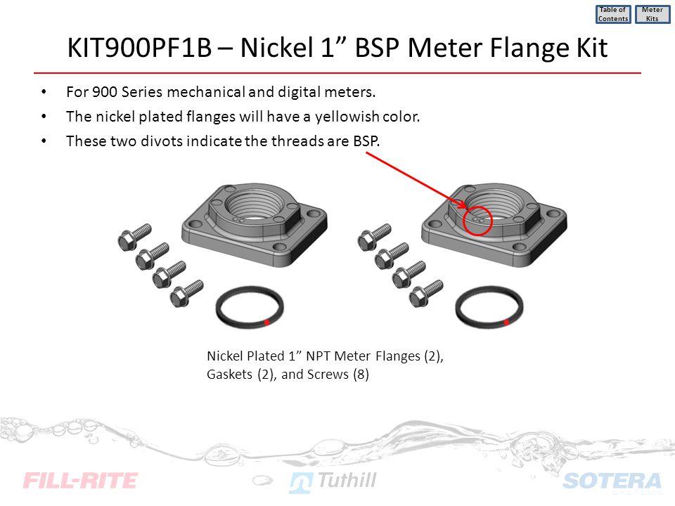 KIT900PF1B – Nickel 1 BSP Meter Flange Kit