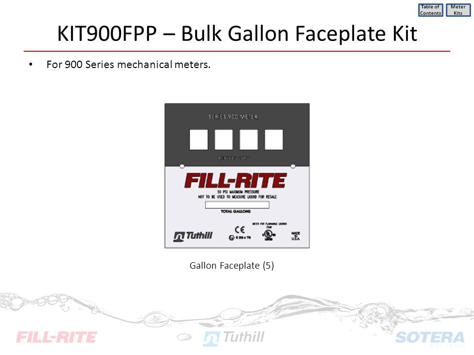 KIT900FPP – Bulk Gallon Faceplate Kit