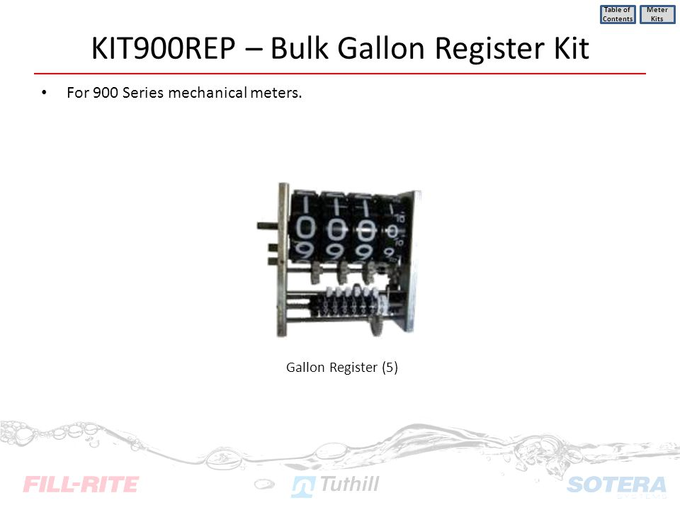 KIT900REP – Bulk Gallon Register Kit