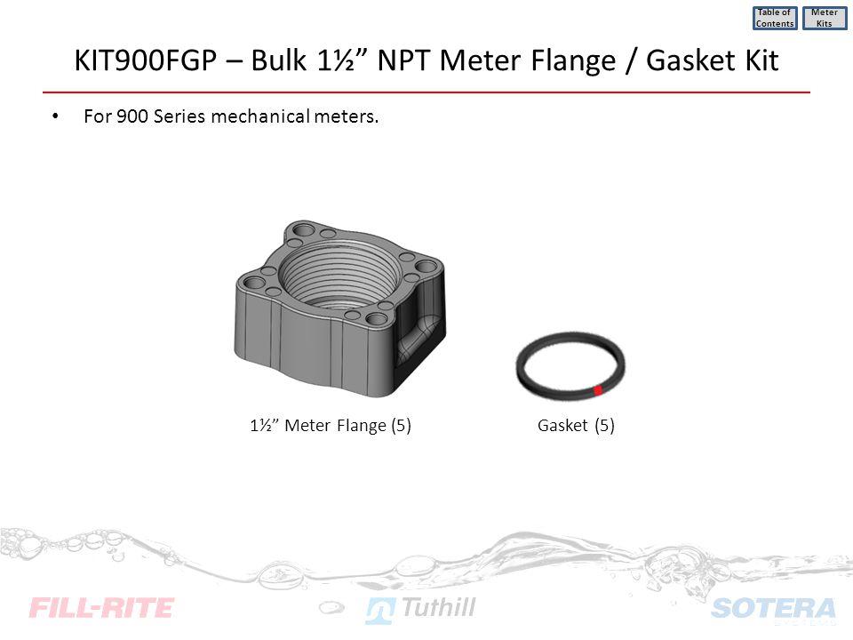 KIT900FGP – Bulk 1½ NPT Meter Flange / Gasket Kit