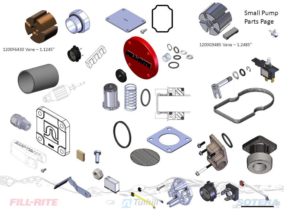 Small Pump Parts Page 1200G9485 Vane – 1.2485