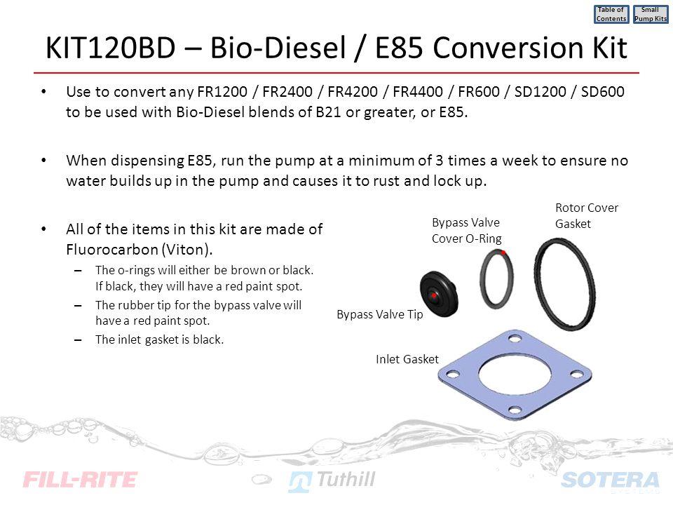 KIT120BD – Bio-Diesel / E85 Conversion Kit