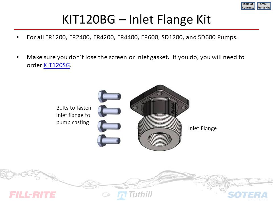 KIT120BG – Inlet Flange Kit