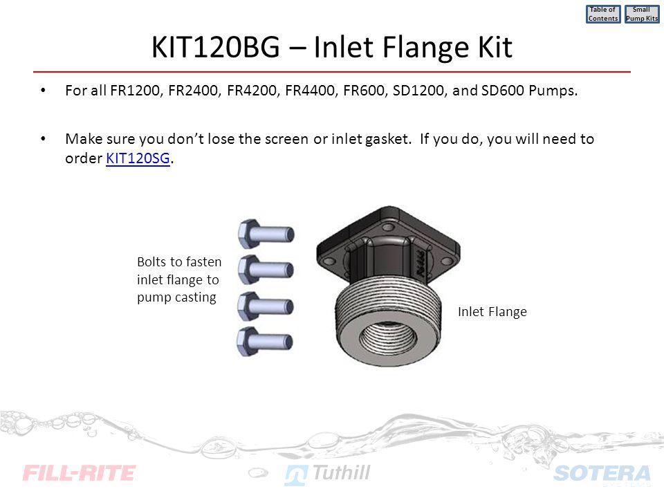 KIT120BG – Inlet Flange Kit