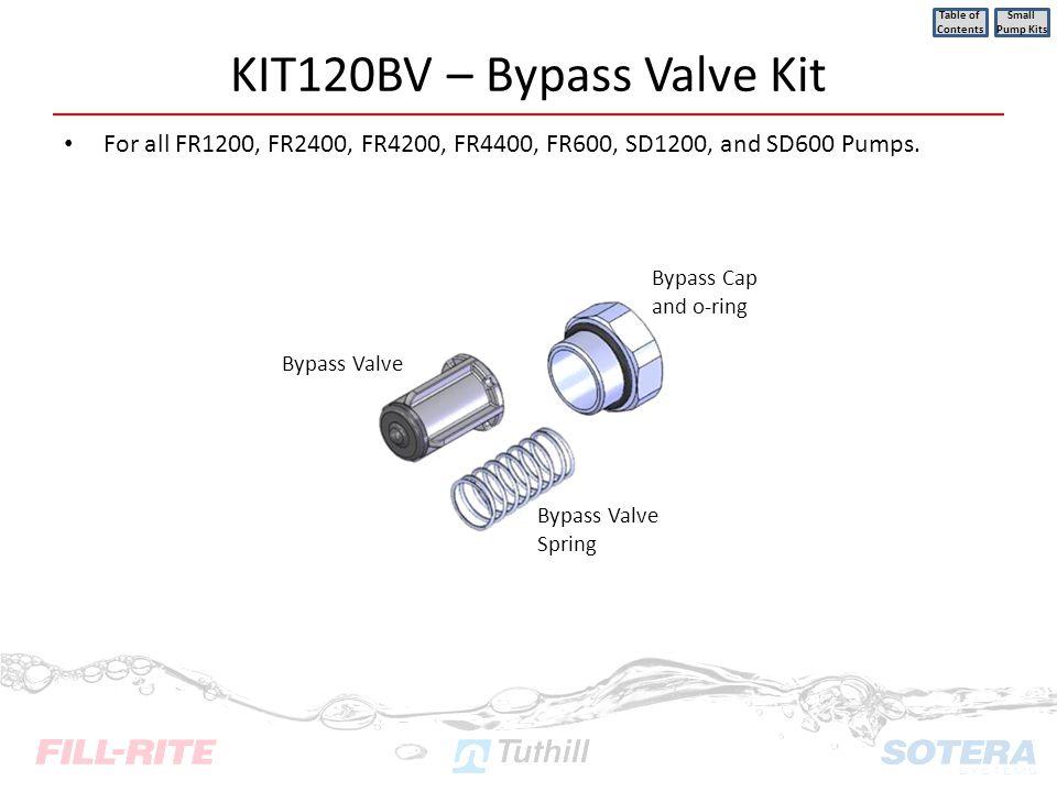 KIT120BV – Bypass Valve Kit