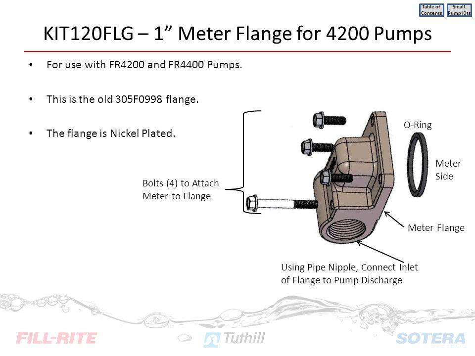 KIT120FLG – 1 Meter Flange for 4200 Pumps