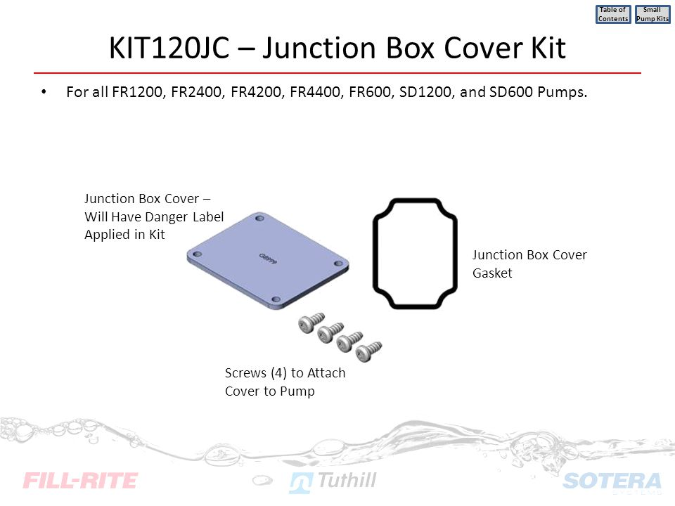 KIT120JC – Junction Box Cover Kit