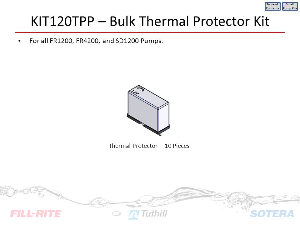 KIT120TPP – Bulk Thermal Protector Kit
