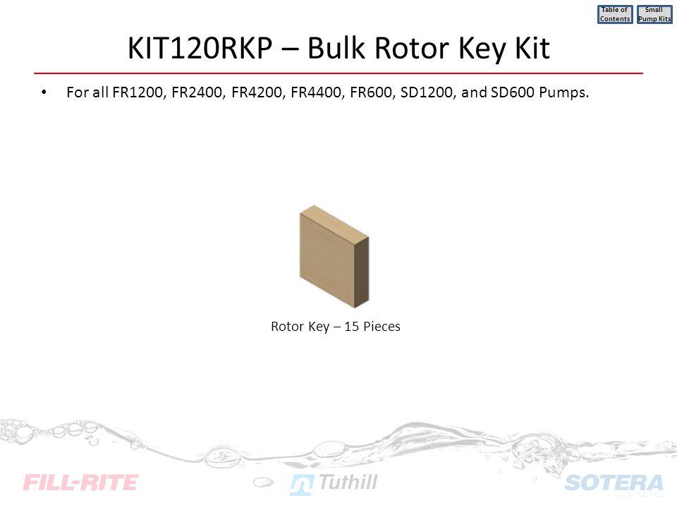 KIT120RKP – Bulk Rotor Key Kit
