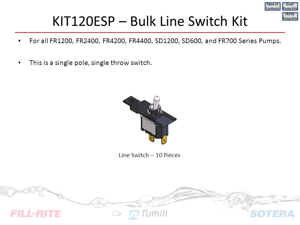 KIT120ESP – Bulk Line Switch Kit
