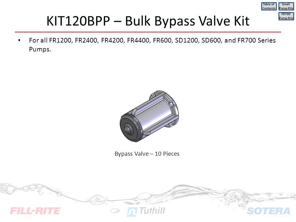 KIT120BPP – Bulk Bypass Valve Kit