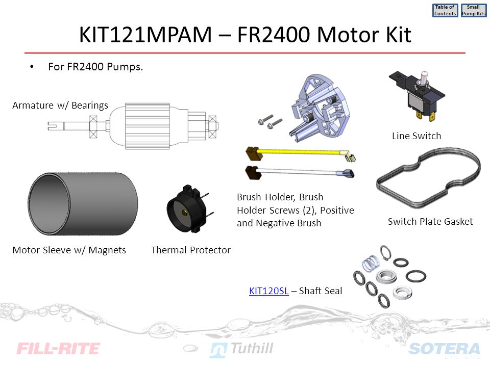 KIT121MPAM – FR2400 Motor Kit For FR2400 Pumps.