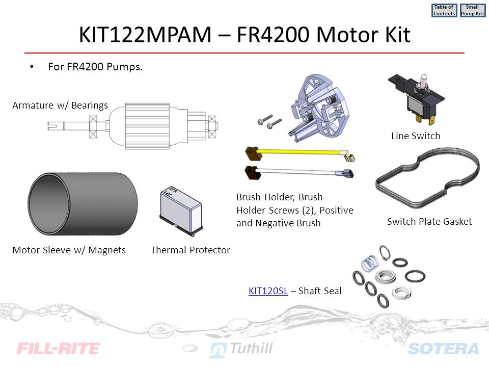 KIT122MPAM – FR4200 Motor Kit For FR4200 Pumps.