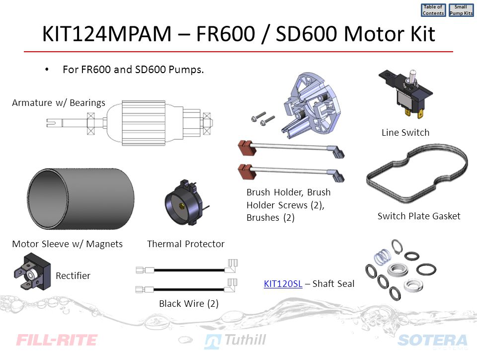KIT124MPAM – FR600 / SD600 Motor Kit