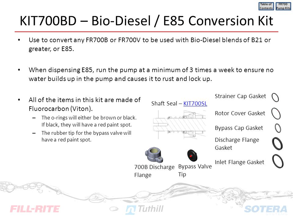KIT700BD – Bio-Diesel / E85 Conversion Kit