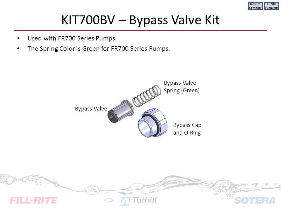 KIT700BV – Bypass Valve Kit
