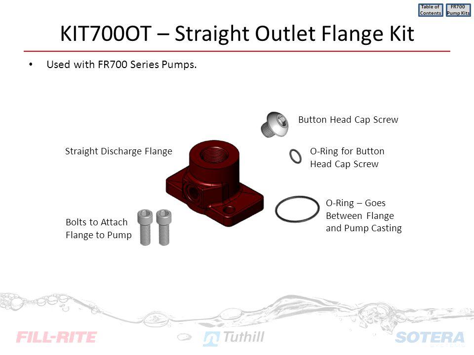 KIT700OT – Straight Outlet Flange Kit