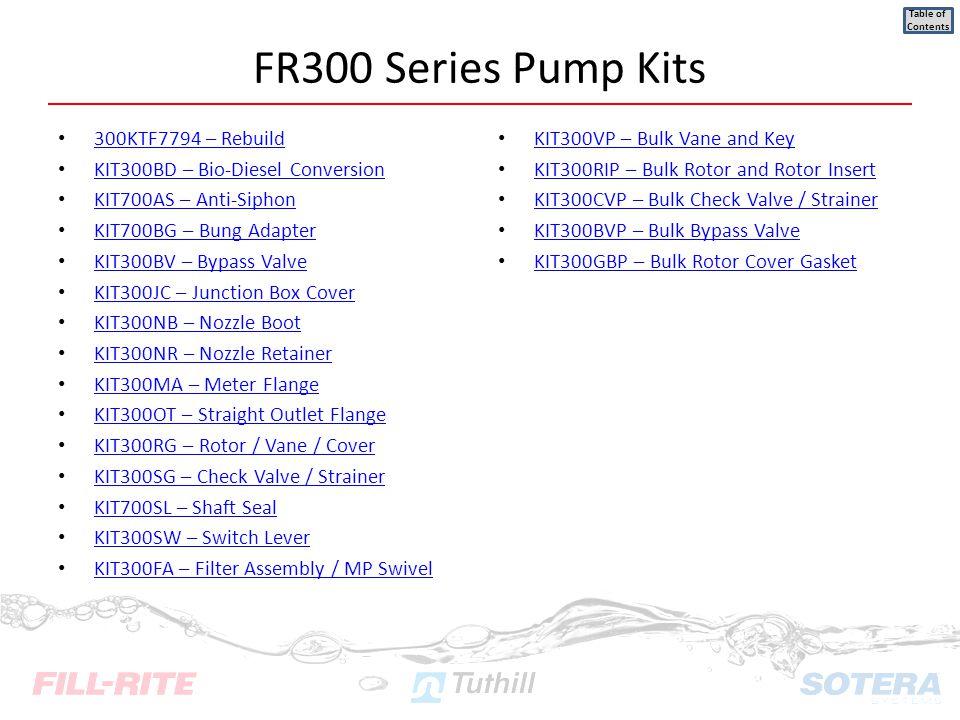 FR300 Series Pump Kits 300KTF7794 – Rebuild