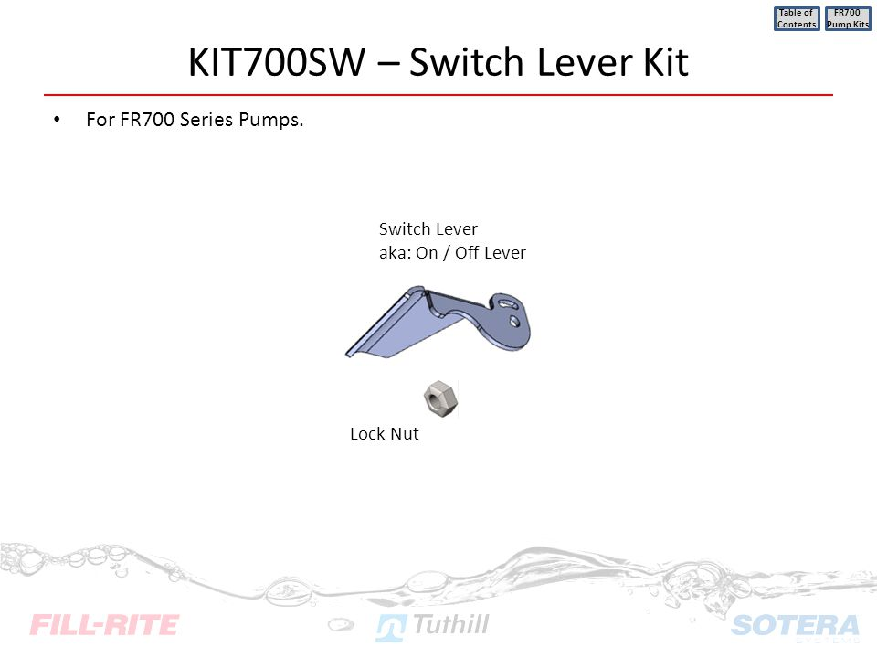 KIT700SW – Switch Lever Kit
