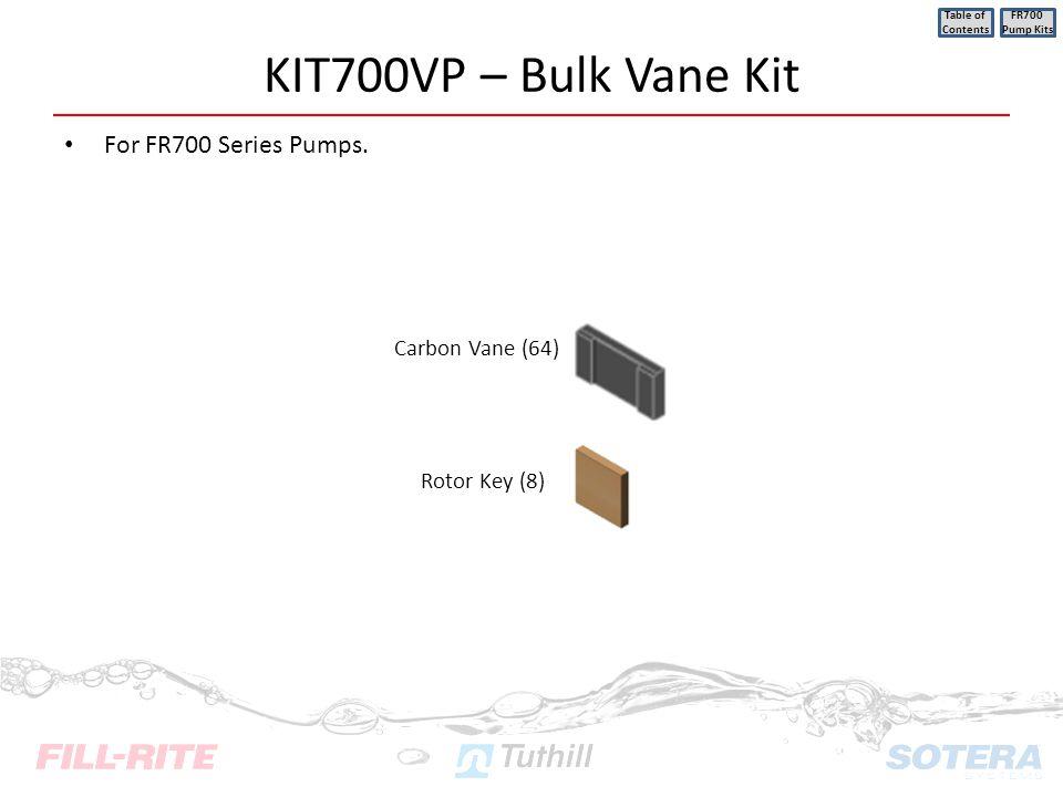 KIT700VP – Bulk Vane Kit For FR700 Series Pumps. Carbon Vane (64)