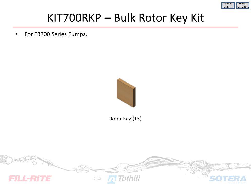 KIT700RKP – Bulk Rotor Key Kit