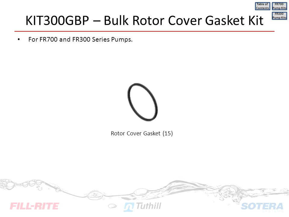 KIT300GBP – Bulk Rotor Cover Gasket Kit