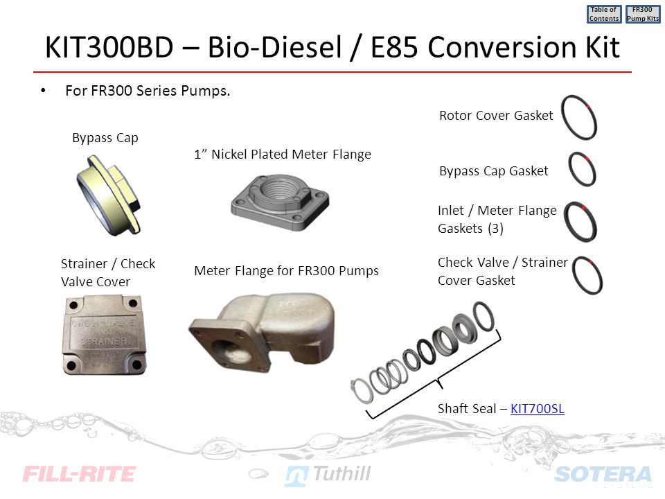 KIT300BD – Bio-Diesel / E85 Conversion Kit
