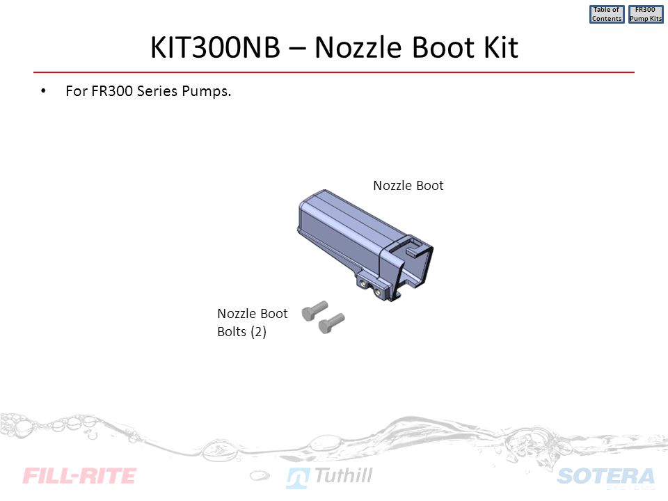 KIT300NB – Nozzle Boot Kit For FR300 Series Pumps. Nozzle Boot