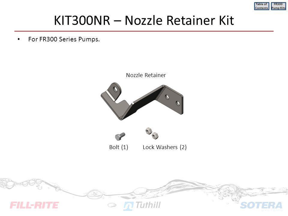 KIT300NR – Nozzle Retainer Kit