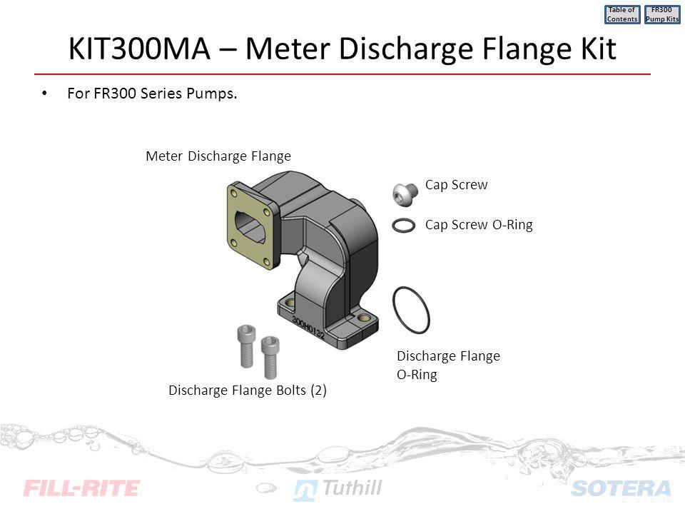 KIT300MA – Meter Discharge Flange Kit