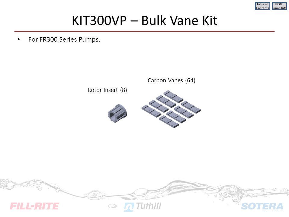 KIT300VP – Bulk Vane Kit For FR300 Series Pumps. Carbon Vanes (64)