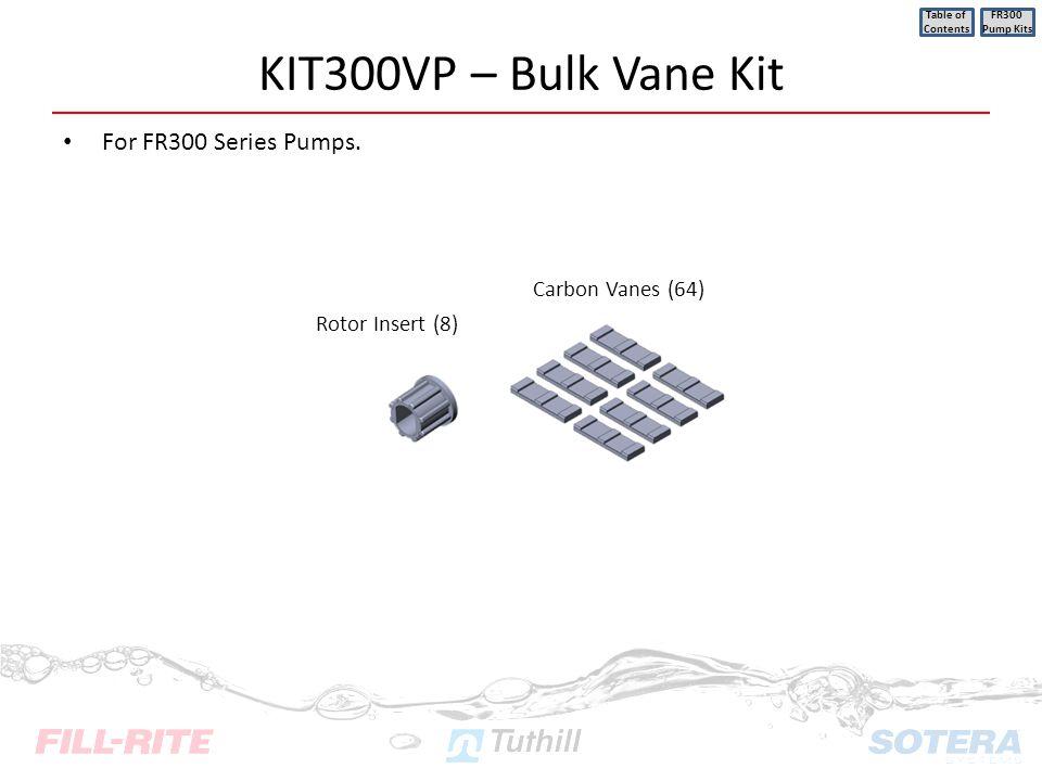 KIT300VP – Bulk Vane Kit For FR300 Series Pumps. Carbon Vanes (64)